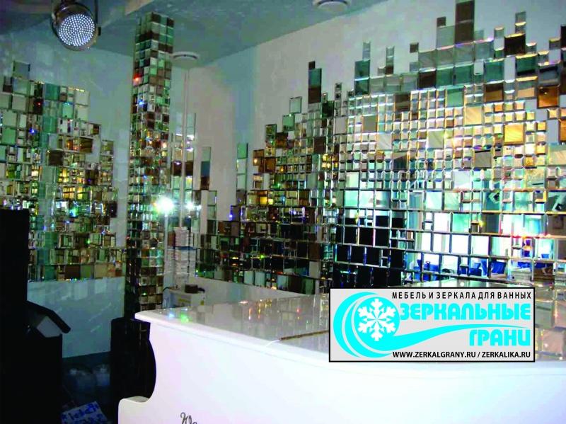 Мозаика из зеркала на стену